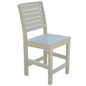Highwood® Synthetic Wood Weatherly Counter Height Dining Chair With No Arms, Whitewash