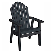 highwood® Hamilton Deck Chair, Black