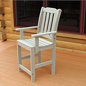 Highwood® Synthetic Wood Dining Chair With Arms, Whitewash