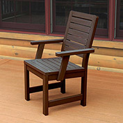 Highwood® Synthetic Wood Weatherly Dining Chair With Arms, Weathered Acorn