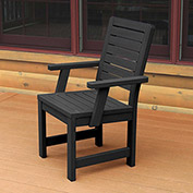 Highwood® Synthetic Wood Weatherly Dining Chair With Arms, Black