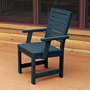 Highwood® Synthetic Wood Weatherly Dining Chair With Arms, Nantucket Blue