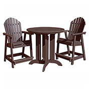 highwood® Hamilton 3pc Round Counter Dining Set, Weathered Acorn