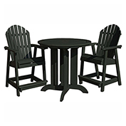 highwood® Hamilton 3pc Round Counter Dining Set, Charleston Green
