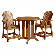 highwood® Hamilton 3pc Round Counter Dining Set, Toffee