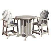 highwood® Hamilton 3pc Round Counter Dining Set, Whitewash