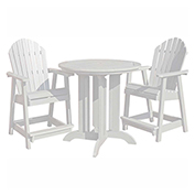 highwood® Hamilton 3pc Round Counter Dining Set, White