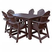 highwood® Hamilton 7pc Rectangular Counter Dining Set, Weathered Acorn
