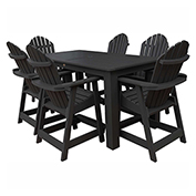 highwood® Hamilton 7pc Rectangular Counter Dining Set, Black