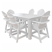 highwood® Hamilton 7pc Rectangular Counter Dining Set, White