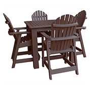 highwood® Hamilton 5pc Square Counter Dining Set, Weathered Acorn