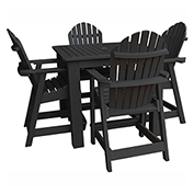 highwood® Hamilton 5pc Square Counter Dining Set, Black