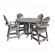 highwood® Hamilton 5pc Round Counter Dining Set, Coastal Teak