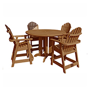 highwood® Hamilton 5pc Round Counter Dining Set, Toffee