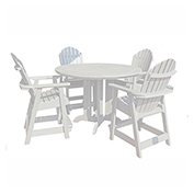 highwood® Hamilton 5pc Round Counter Dining Set, White