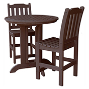 highwood® Lehigh 3pc Round Counter Dining Set, Weathered Acorn