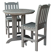 highwood® Lehigh 3pc Round Counter Dining Set, Coastal Teak