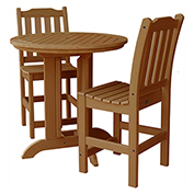 highwood® Lehigh 3pc Round Counter Dining Set, Toffee