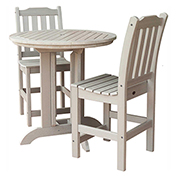 highwood® Lehigh 3pc Round Counter Dining Set, Whitewash