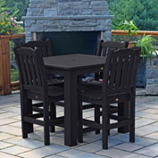 Highwood® Synthetic Wood 5-pc Counter Height Dining Set, 42 X 42, Black
