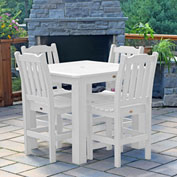 Highwood® Synthetic Wood 5-pc Counter Height Dining Set, 42 X 42, White