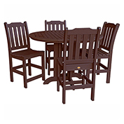 highwood® Lehigh 5pc Round Counter Dining Set, Weathered Acorn