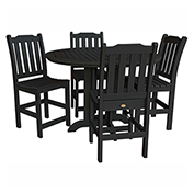 highwood® Lehigh 5pc Round Counter Dining Set, Black