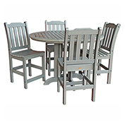 highwood® Lehigh 5pc Round Counter Dining Set, Coastal Teak