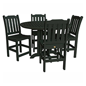 highwood® Lehigh 5pc Round Counter Dining Set, Charleston Green