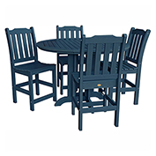 highwood® Lehigh 5pc Round Counter Dining Set, Nantucket Blue