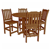 highwood® Lehigh 5pc Round Counter Dining Set, Toffee