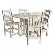 highwood® Lehigh 5pc Round Counter Dining Set, Whitewash