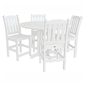 highwood® Lehigh 5pc Round Counter Dining Set, White