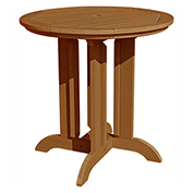 highwood® Round 36 Diameter Counter Dining Table, Toffee