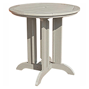 highwood® Round 36 Diameter Counter Dining Table, Whitewash