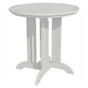 highwood® Round 36 Diameter Counter Dining Table, White
