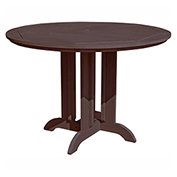 highwood® Round 48 Diameter Counter Dining Table, Weathered Acorn
