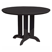 highwood® Round 48 Diameter Counter Dining Table, Black