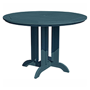 highwood® Round 48 Diameter Counter Dining Table, Nantucket Blue