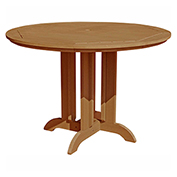 highwood® Round 48 Diameter Counter Dining Table, Toffee