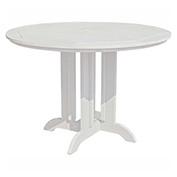 highwood® Round 48 Diameter Counter Dining Table, White