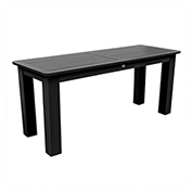 highwood® Counter Sideboard Table 22 x 54 , Black