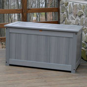 "Highwood® Deck & Patio Storage Box AD-DBXL1-CGE - 44""L x 24-15/16""W x 25-13/16""H, Teak"