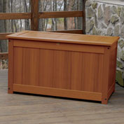 "Highwood® Deck & Patio Storage Box AD-DBXL1-TFE - 44""L x 24-15/16""W x 25-13/16""H, Toffee"