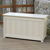 "Highwood® Deck & Patio Storage Box AD-DBXL1-WAE- 44""L x 24-15/16""W x 25-13/16""H Whitewash"
