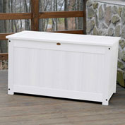 "Highwood® Deck & Patio Storage Box AD-DBXL1-WHE - 44""L x 24-15/16""W x 25-13/16""H, White"