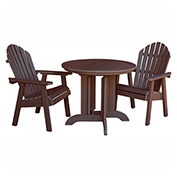 highwood® Hamilton 3pc Round Dining Set, Weathered Acorn
