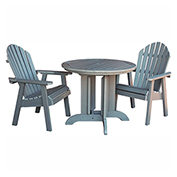 highwood® Hamilton 3pc Round Dining Set, Coastal Teak