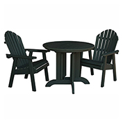 highwood® Hamilton 3pc Round Dining Set, Charleston Green