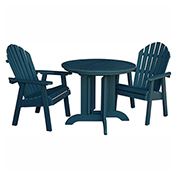 highwood® Hamilton 3pc Round Dining Set, Nantucket Blue